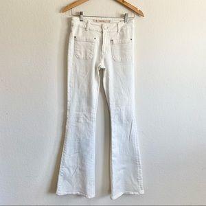 Zara Y2K White Flare Jeans